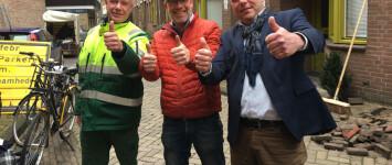 Bewoners, Zone.college en gemeente Zwolle maken de Waterstraat groener - Geveltuintjes-Waterstraat-850