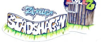 Graffitimuur voor en door jongeren  - stadshagen2