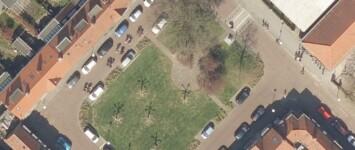Huygensstraat met tuintjes van Harry Pierik - luchtfoto_2020