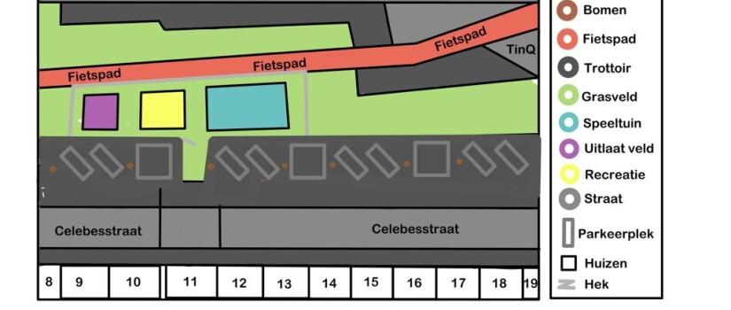 Plattegrond_nieuwe_indeling_groene_strook_Celebesstraat